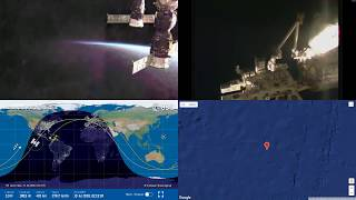 Sunset Over The Pacific - NASA/ESA ISS LIVE Space Station With Map - 31 - 2018-07-19