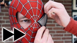 Making the SPIDER-MAN Mask - FAST EDIT!