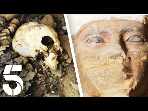 Ancient Mummy Found Inside Undiscovered Pyramid | Egyptian Tomb Hunting | Channel 5 #AncientHistory