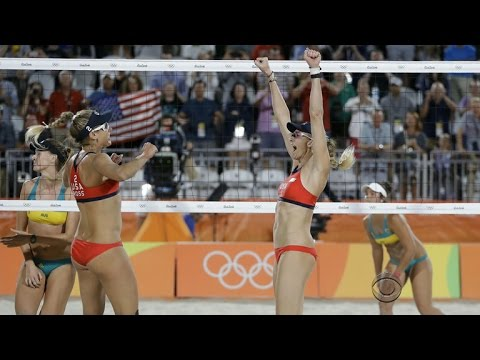 U.S. beach volleyball, women's soccer excel in Rio - YouTube