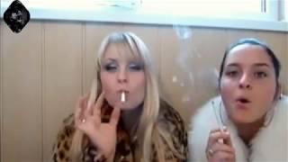 New Beautiful two girls smoking-two friends smokers at home-beautiful smoking fetish- girls #050