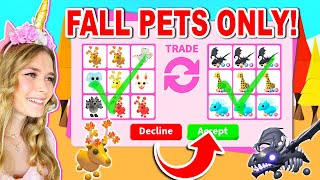 Trading FALL PETS ONLY In Adopt Me! (Roblox)