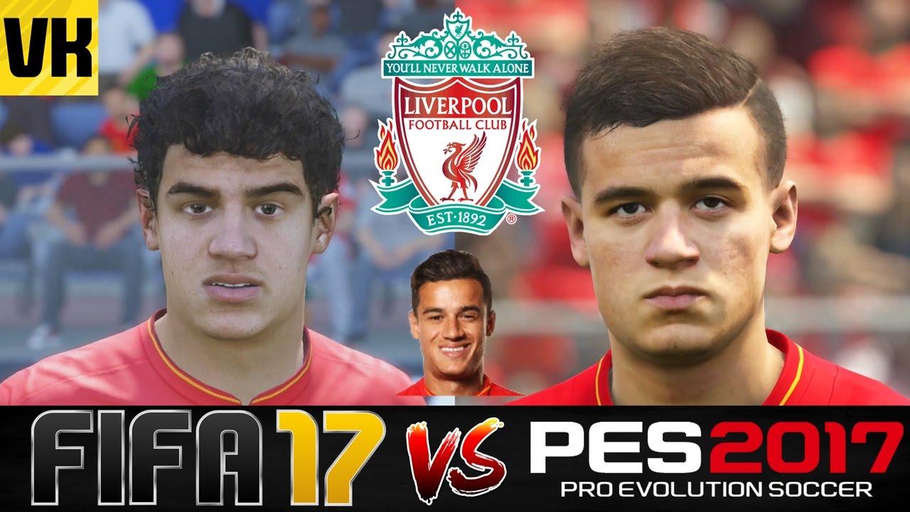82698c4f54e485 FIFA 17 VS PES 2017 VS REAL LIFE LIVERPOOL PLAYER FACES COMPARISON ...