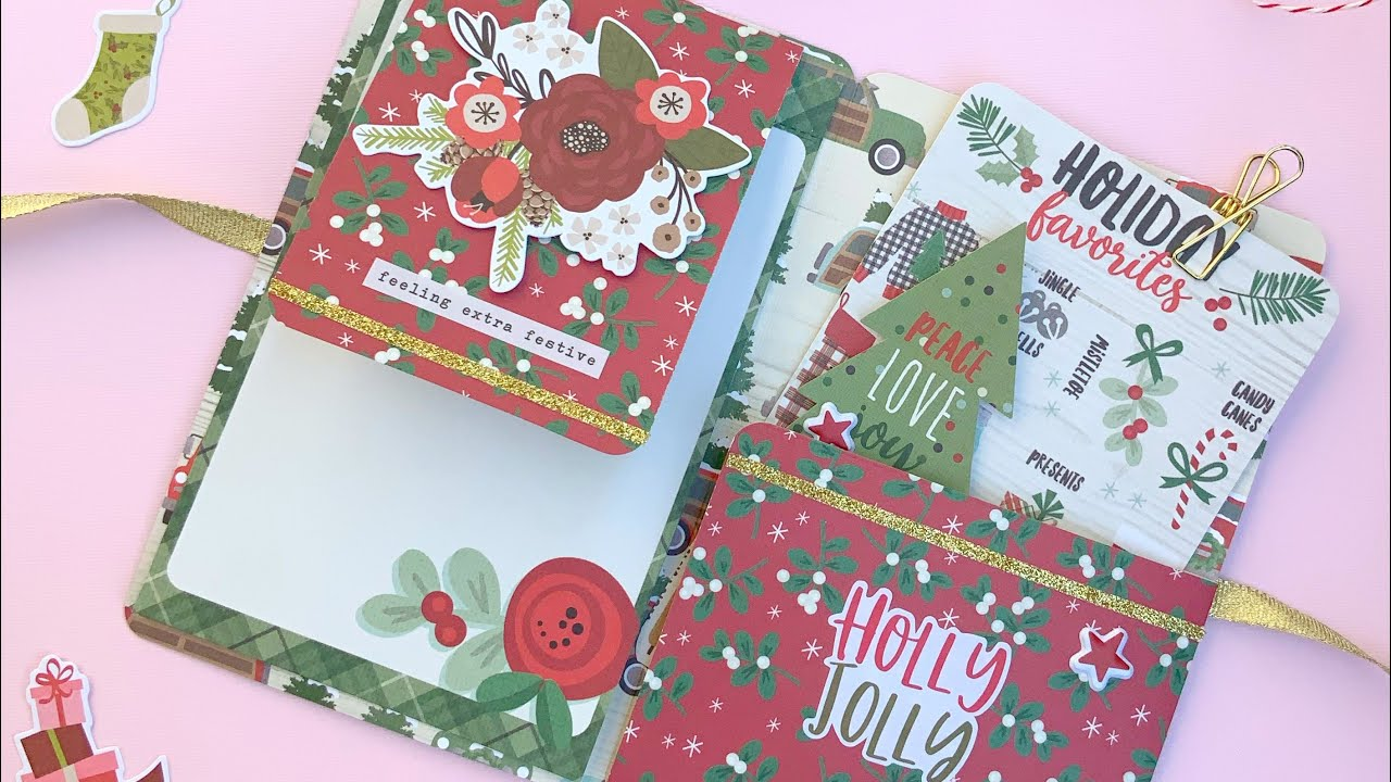 Quick & Easy Journal Mini Album | One Page Wonder | Hot Chocolate Holder 🎄Christmas in July Crafts