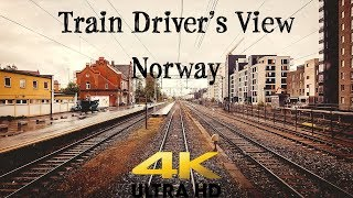 Train Driver's View: Train to Oslo Diverted over the Gjøvik Line
