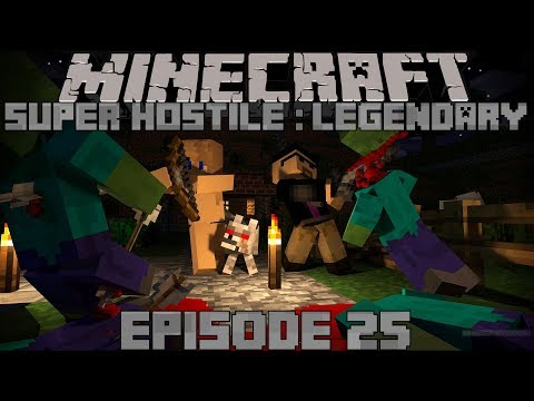 Minecraft Super Hostile: Legendary // Episode 25- FULL IRON ARMOR, MINING OUTPOST, and DIAMONDS!?