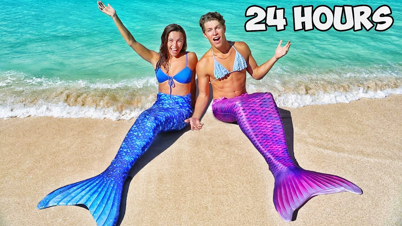 WE BECAME MERMAIDS FOR THE DAY!