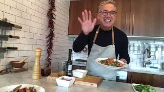 Des chips de pancetta accompagnant une superbe salade bufala - Les astuces de François (59)