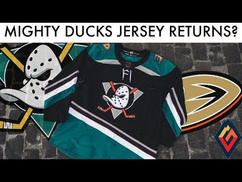 Anaheim Reveals New Mighty Ducks Throwback! - NHL Jersey Review
