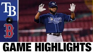 Kiermaier leads Rays in a tight 8-7 win | Rays-Red Sox Game Highlights 8/10/20