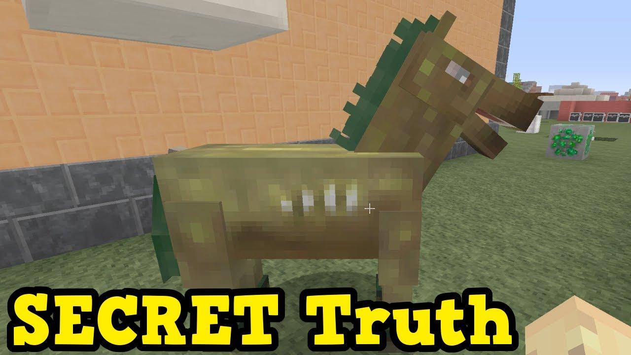 The ZOMBIE HORSE MYSTERY Explained - Minecraft Xbox / PE