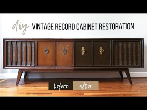 DIY Record Cabinet Restoration | Before And After Furniture Makeover