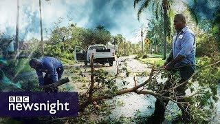 On the path of Hurricane Irma - BBC Newsnight