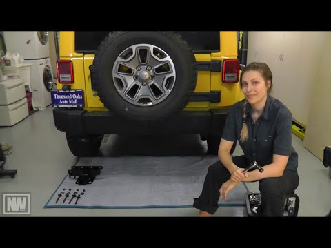 """Jeep Wrangler '07-'15 Tow Hitch and Trailer Wiring Install - """"NeWere4x4"""""""