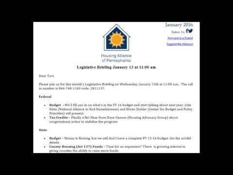 Legislative Briefing 1/13/16