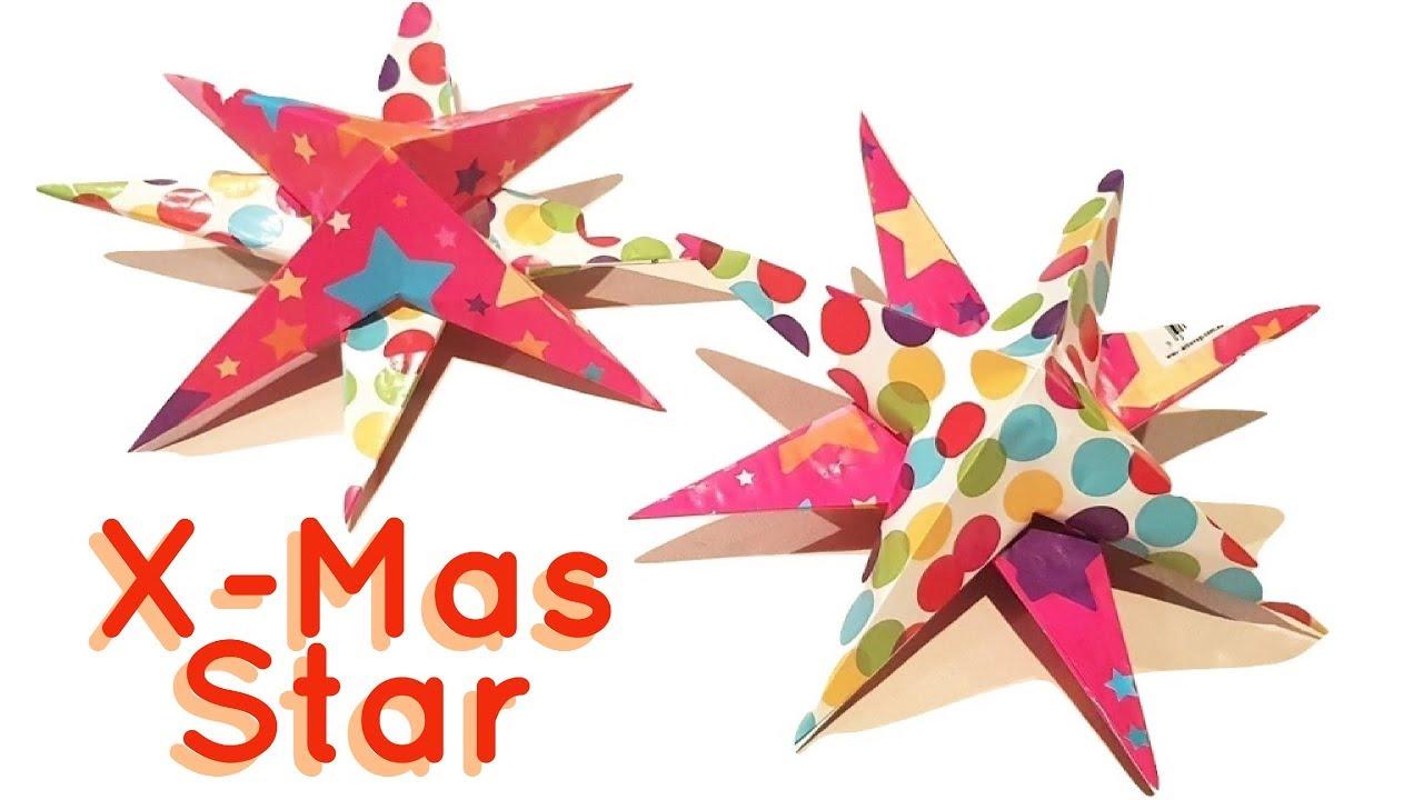 Christmas Star Craft Ideas Part - 37: DIY EASY CHRISTMAS STAR | EASY CHRISTMAS CRAFT IDEAS 2017 | CHRISTMAS  SERIES- 5