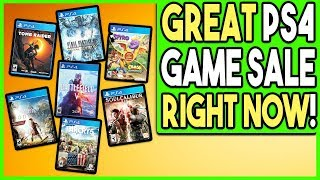 GREAT PS4 GAME SALE RIGHT NOW - LOWEST PRICE EVER ON BIG GAMES!