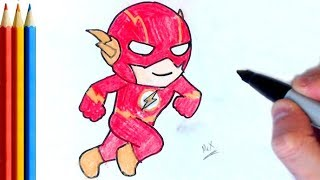 How to Draw Kid Flash - Step by Step Tutorial