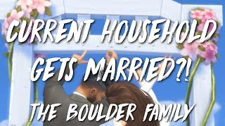 THE BOULDER WEDDING - CURRENT HOUSEHOLD MACHINIMA // Sims 4