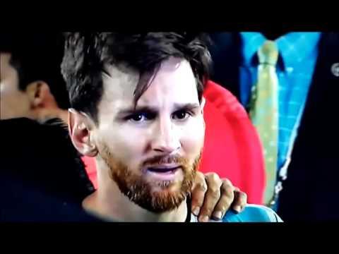 Слезы Месси после поражения в финале Копа Америки от Чили