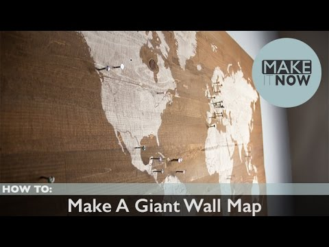 How to make a giant wall map youtube gumiabroncs Gallery