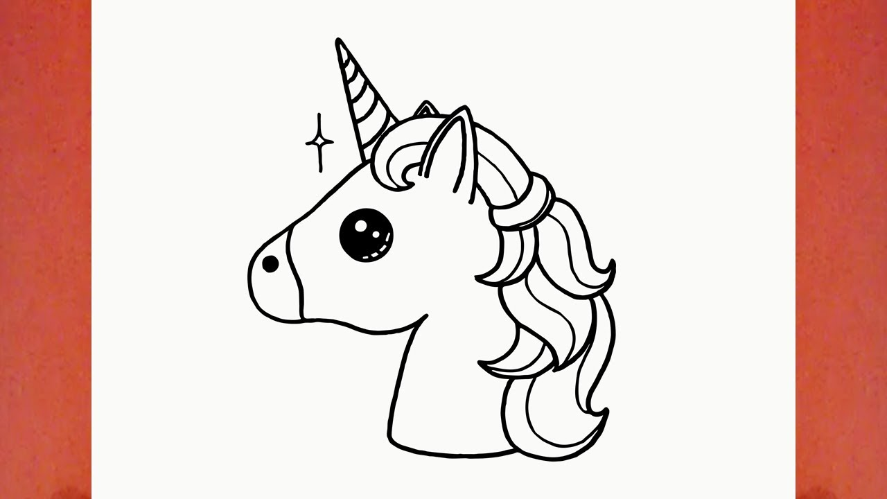 Contoh Sketsa Gambar How To Draw A Cute Unicorn