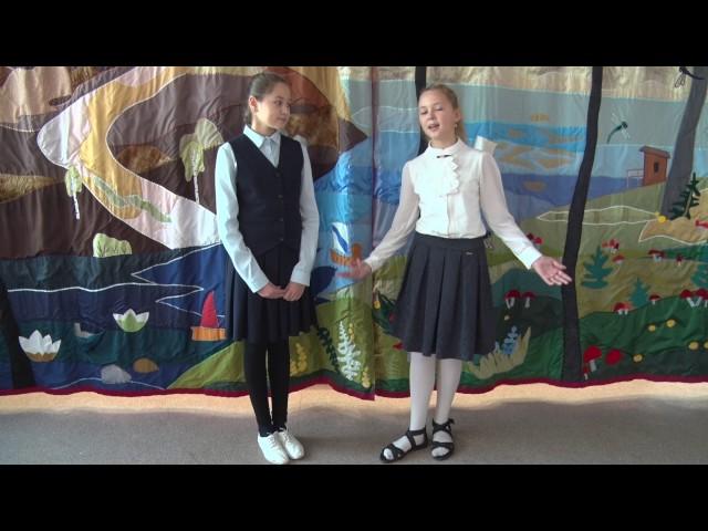 Изображение предпросмотра прочтения – «Учащиеся ГБОУ Школа №1770 г.Москвы» читают произведение «Ворона и Лисица» И.А.Крылова
