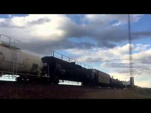 Bnsf mixed train in cut bank montana