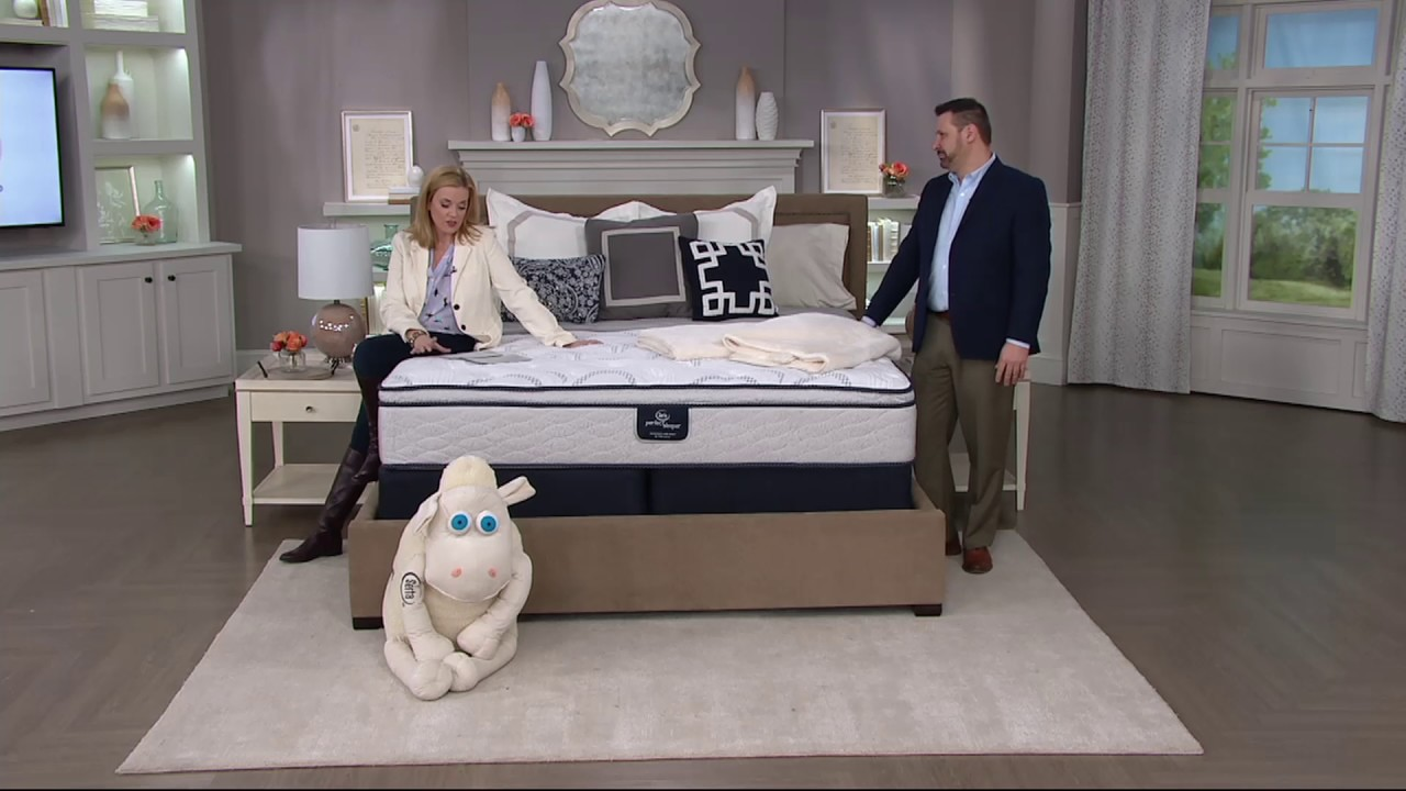 serta perfect sleeper capriana eurotop mattress set on qvc