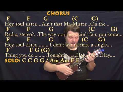 Hey Soul Sister (Train) Ukulele Cover Lesson in C with Chords/Lyrics