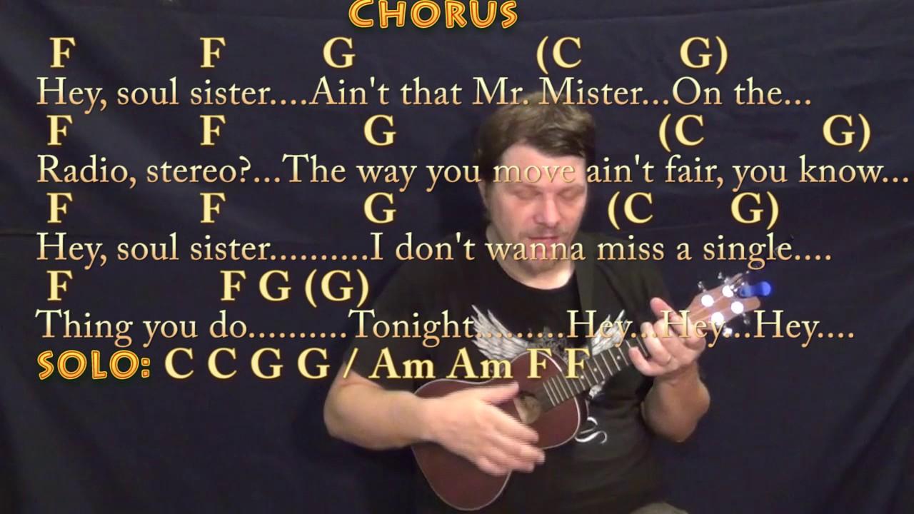 Hey Soul Sister Train Ukulele Cover Lesson in C with Chords/Lyrics