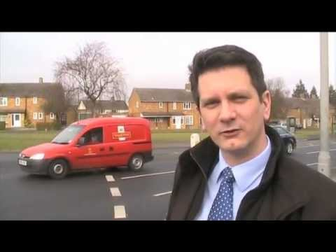 Steve Baker MP catches the Arriva 300 bus from High Wycombe to Stoke Mandeville Hospital