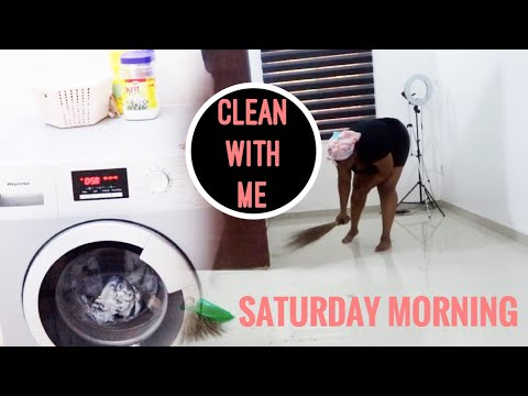 Clean With Me: Saturday Morning Routine in Nigeria || Bemi.A
