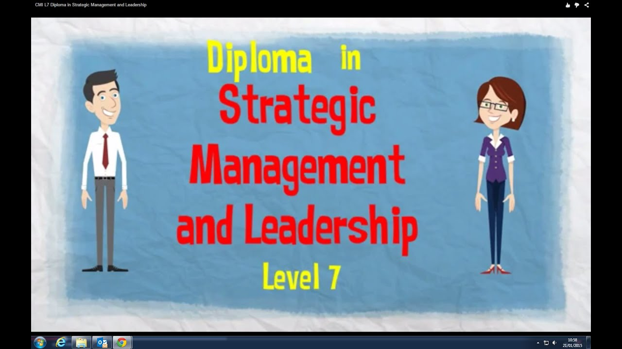 cmi level 7 strategic management leadership unit 7001 Description cmi level 7 diploma in strategic management & leadership (qcf) learners need to complete any combination of units to a minimum of 39 credits to achieve this qualification.