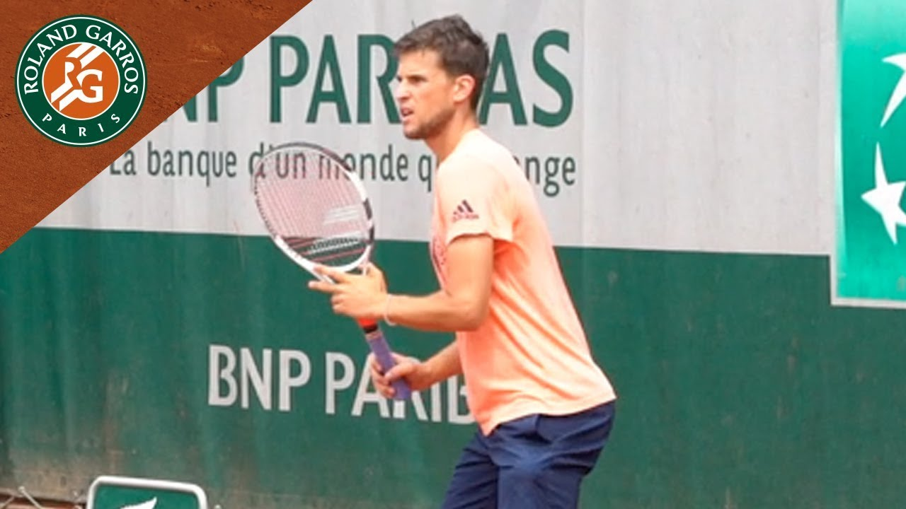 Dominic Thiem in Practice before the final - Inside RG I Roland-Garros 2018