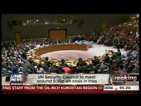 "UN Security Council on Crisis in Iraq ""ISIS"" ."