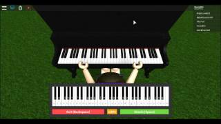 Hedwig theme on the roblox piano. READ THE DESC.
