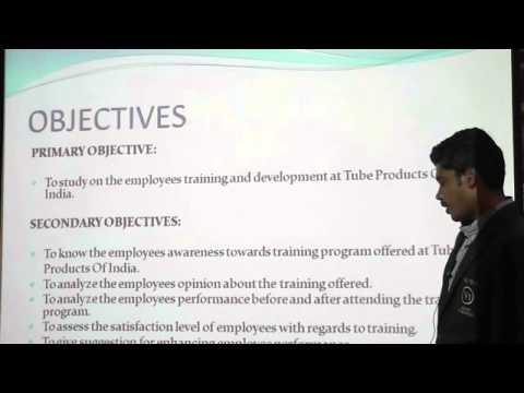 MBA Project Presentation On Training And Development