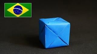 Origami: Cubo Sonobe - Instruções em português PT BR