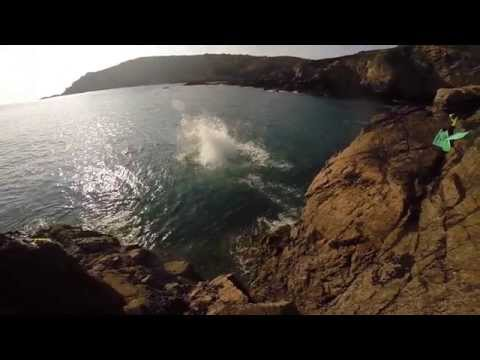 Cliff Jumping in Guernsey