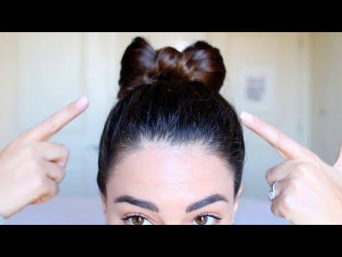 Try This DIY 2 Minute Hair Bow Bun