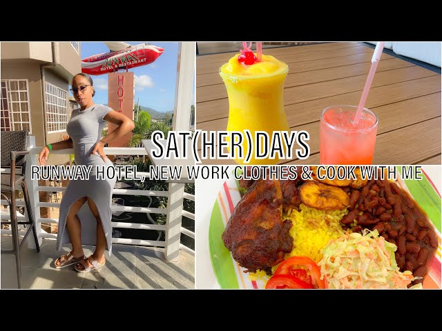 VLOG! SAT(HER)DAYS  I RUNWAY HOTEL, NEW WORK CLOTHES & COOK WITH ME  I  Trinidad Youtuber