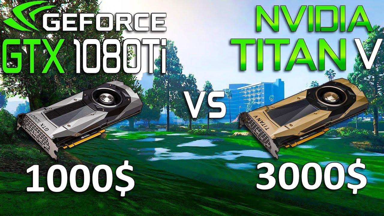 TITAN V vs GTX 1080 Ti Test in 9 Games 4K (i7 8700k)