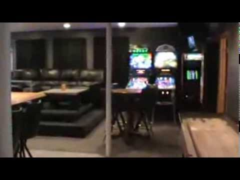 Man Cave Bar Games : Basement bar man cave best of a must see youtube
