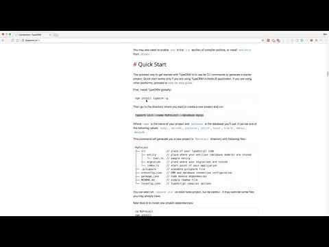 How to setup Typeorm - YouTube