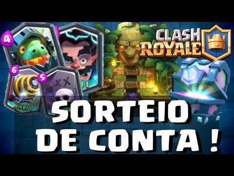 🔴SORTEIO DE 5 CONTAS DO CLASH ROYALE COM 10 LENDÁRIAS - AO VIVO