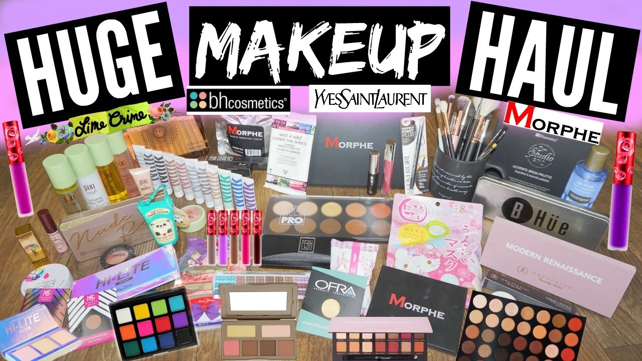 BIGGEST MAKEUP HAUL ON YOUTUBE