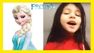 FROZEN Let it Go Sing along Elsa karaoke