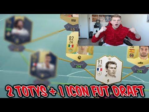 Fifa 19: 2 heftige TOTYS + 1 kranke neue IV ICON im Fut Draft bekommen! - Ultimate Team