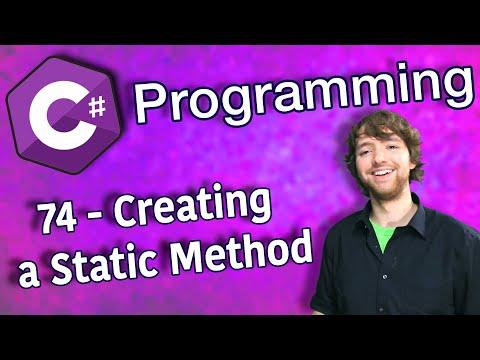 C# Programming Tutorial 74 - Creating a Static Method thumbnail